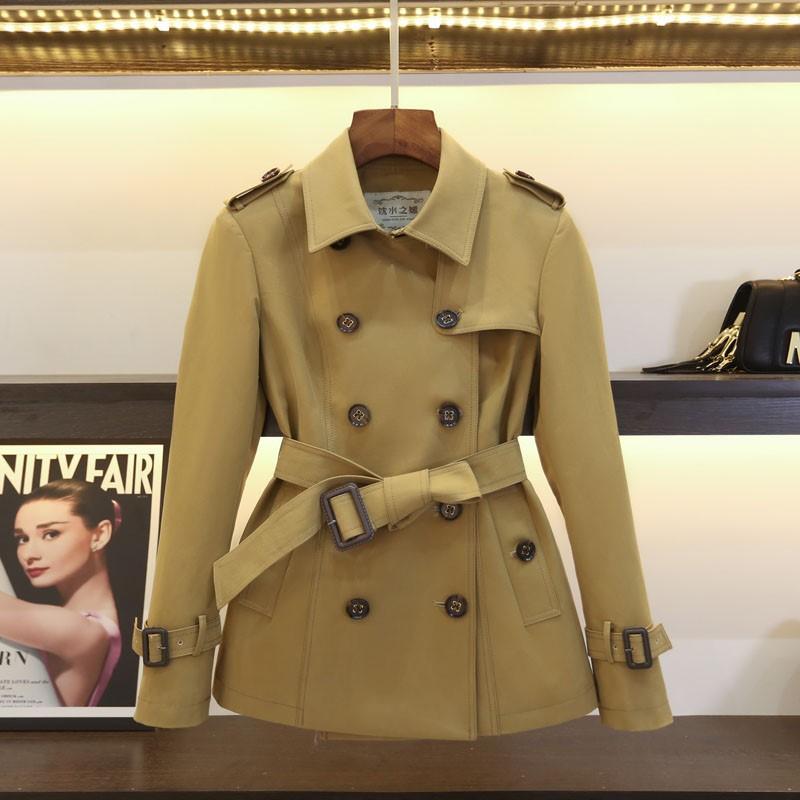 女式中款小风衣短款矮小个子外套春款2020高端秋季精品英伦风女装