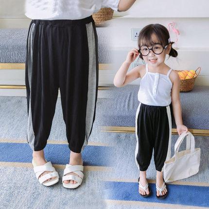 女童防蚊裤奶奶2019夏装新款长裤子
