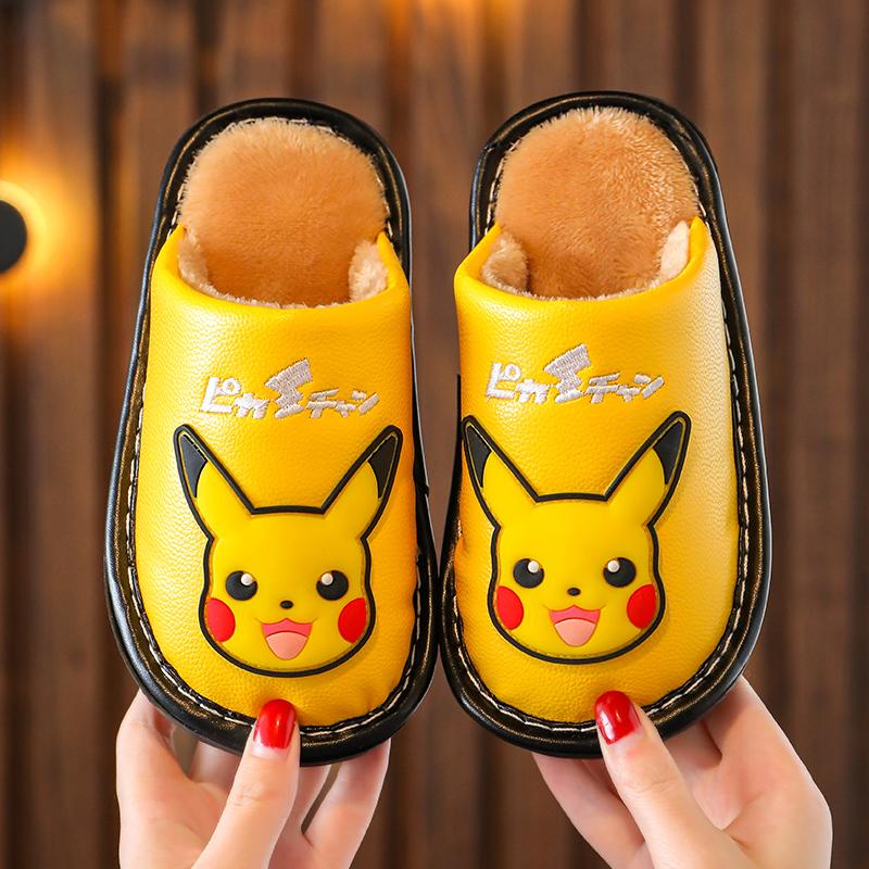 儿童棉拖男童防水拖鞋冬季男女童大童男孩春秋防滑保暖宝宝居家鞋