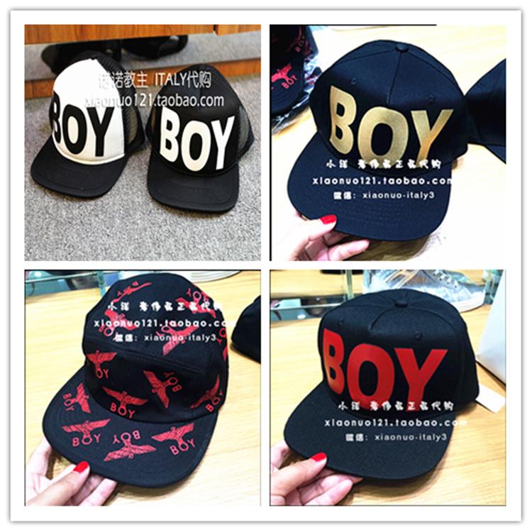 【意大利正品 现货】BOY LONDON 网状BOY字母棒球帽 鸭舌帽