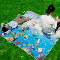 人防水草坪垫128加厚户外防潮地垫300300陪时间旅行加大野餐垫