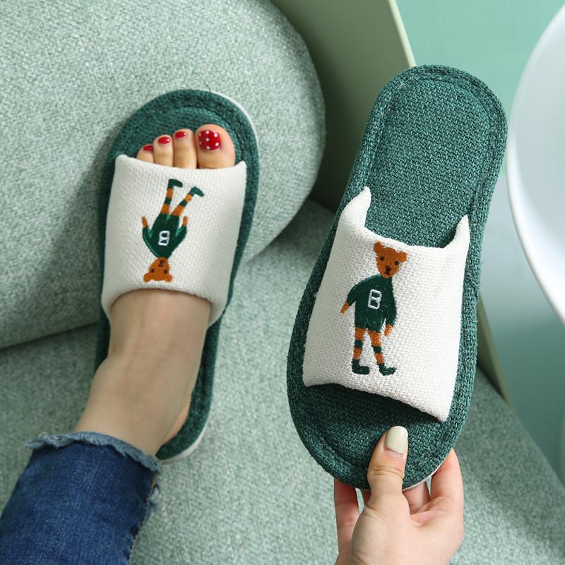 亚麻拖鞋女情侣可爱软底家用室内质量怎么样