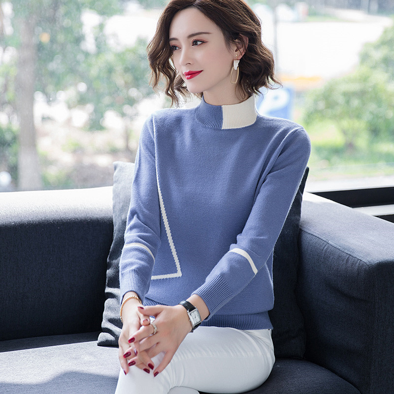 Spring and autumn womens long sleeve short Pullover Sweater