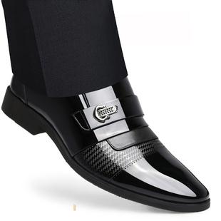 富貴鳥春季男士商務正裝內增高皮鞋男透氣韓版真皮休閒英倫男鞋子