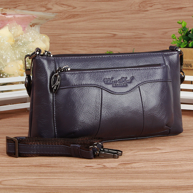 Womens bag xizhixiu new small bag middle-aged mothers bag simple single shoulder bag leather messenger bag top layer cow leather bag