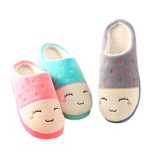 Cotton slippers thick sole winter indoor soft sole warm skid-proof household Plush moonlight autumn and winter wool slippers