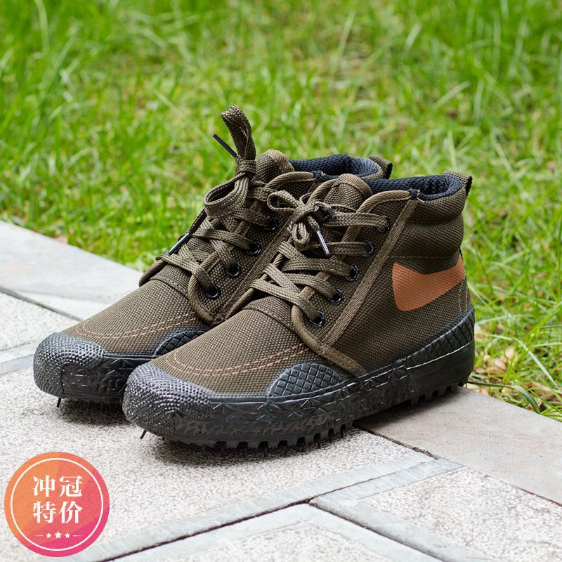 99 training liberation shoes mountaineering high-top wear-resistant waterproof camouflage rubber shoes workers work wear