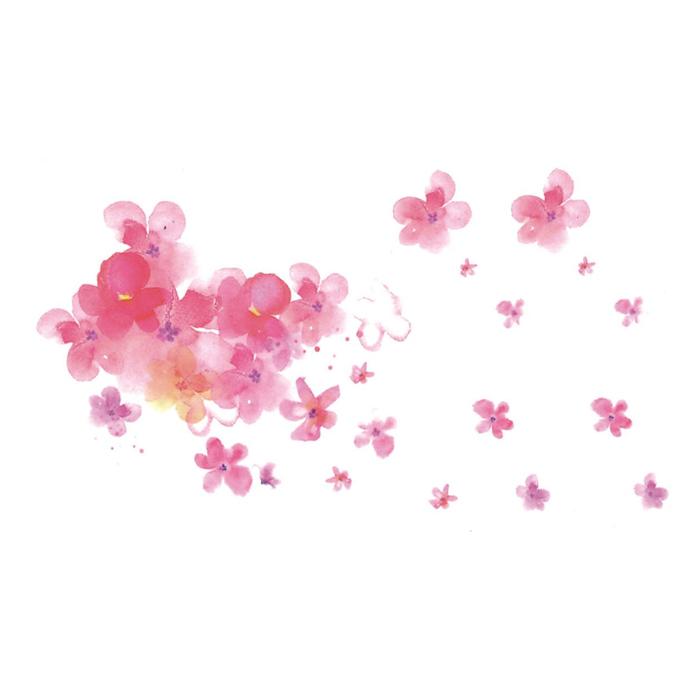 限7000张券韩国防水仿真手绘少女花朵纹身贴