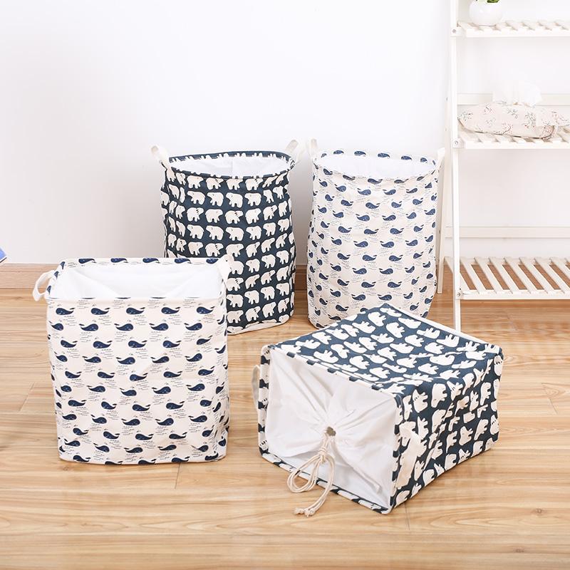 洗衣篮脏衣篮折叠家用脏衣篓棉麻布艺脏衣服玩具收纳筐脏衣袋大号