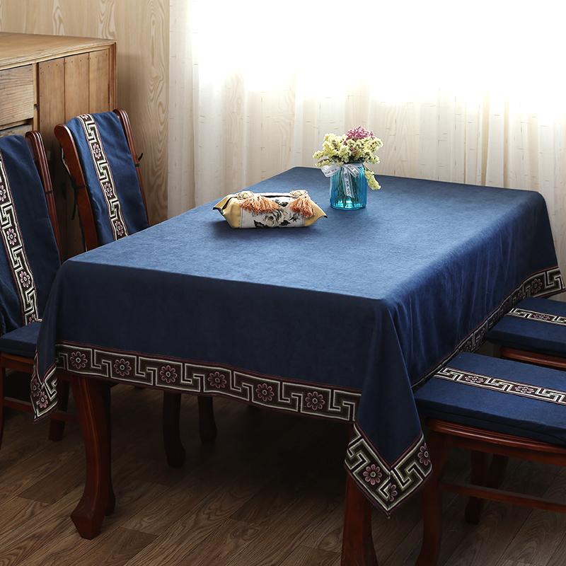 11-19新券餐桌布艺新中式实木高档奢华餐台布