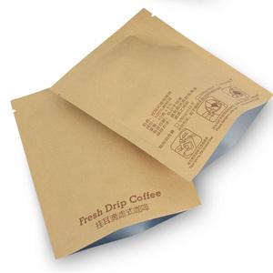 领1元券购买100个挂耳咖啡外袋牛皮纸铝箔外袋 手冲便携挂耳咖啡滤袋包装袋