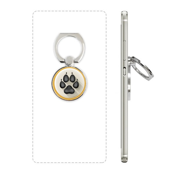 Black cute dog claw pattern mobile phone support ring multifunctional adhesive lazy desktop support gift live broadcast