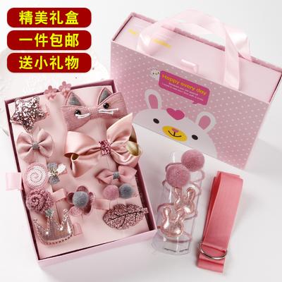 韩国儿童发饰礼盒套装可爱公主发夹皮筋宝宝不伤发头绳女童头饰品