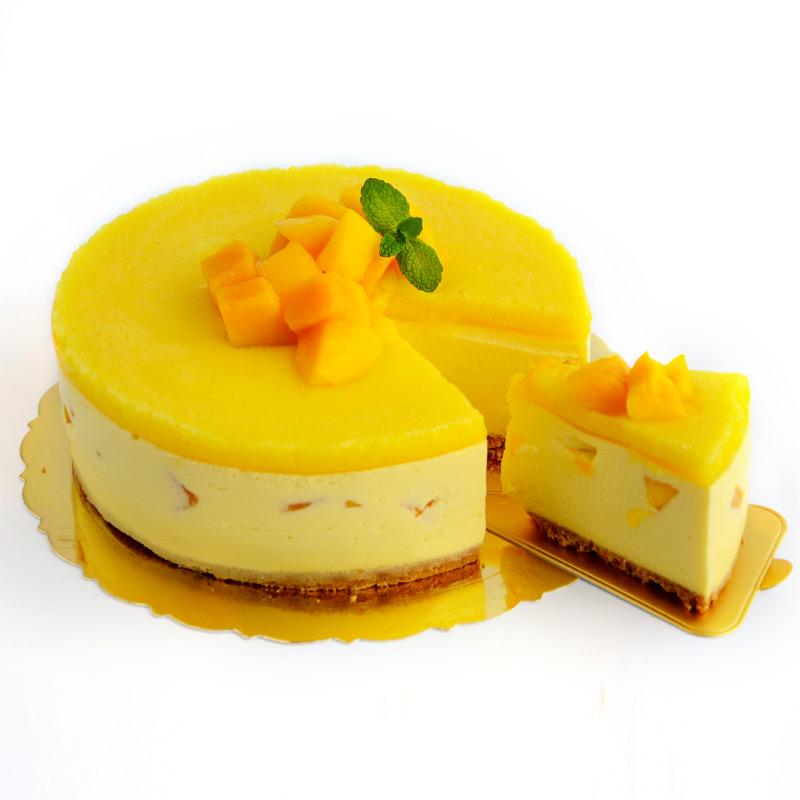Домашний фруктовый мусс Торт Сырьевой набор Ji Li Ding Выпечка Diy Клубничный торт манго 6/8 дюймов Бесплатный жаркое