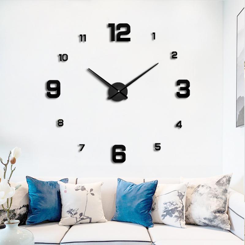 欧式客厅挂钟简约钟表家用艺术挂表 DIY个性时钟时尚装饰墙贴表