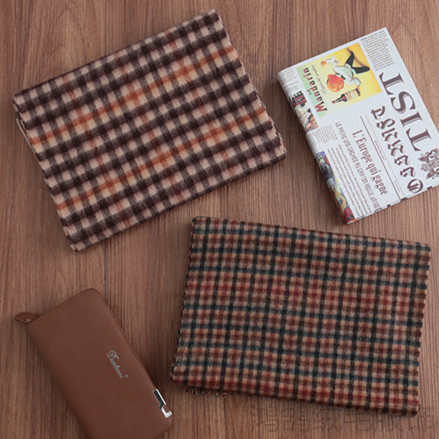 Autumn and winter new womens pure wool small Plaid scarves, Korean Plaid cashmere bib and stripes
