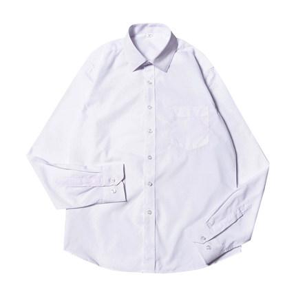 男士韩版长袖秋季立领潮流白色衬衫