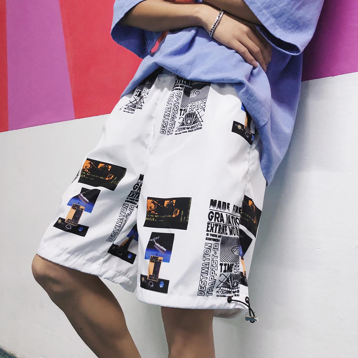 夏季短裤男士五分裤裤子沙滩裤嘻哈裤宽松工装休闲裤韩版潮流运动