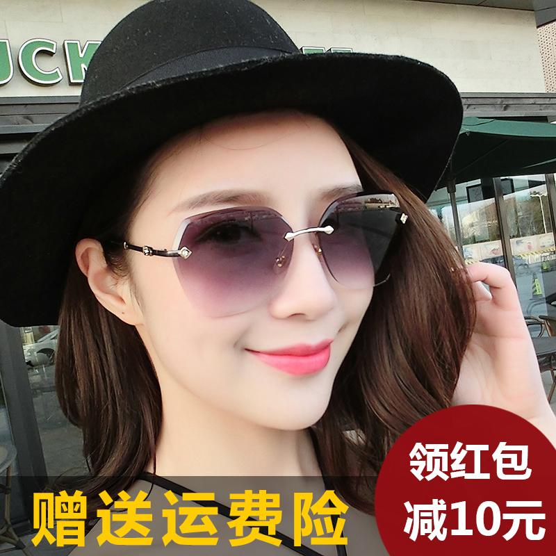 太阳镜女士潮2019新款时尚大框圆脸长脸优雅个性墨镜高清驾驶眼镜