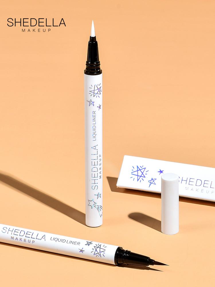 Sta eye liner, female, not dyed, waterproof, durable, novice beginner, white brown color Eyeliner Pen