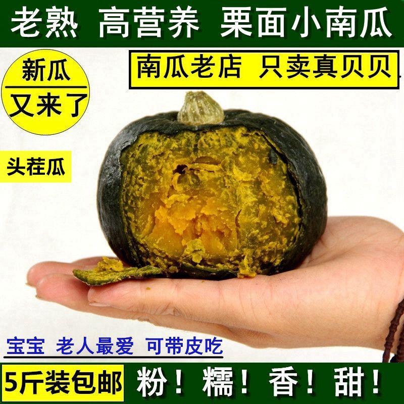 新鲜迷你小南瓜蔬菜贝贝南瓜栗面老南瓜宝宝辅食板栗味5斤包邮