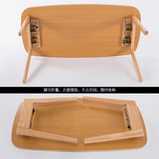 北欧小茶几简约迷你小户型实木简易茶几小桌子可折叠茶几餐桌两用