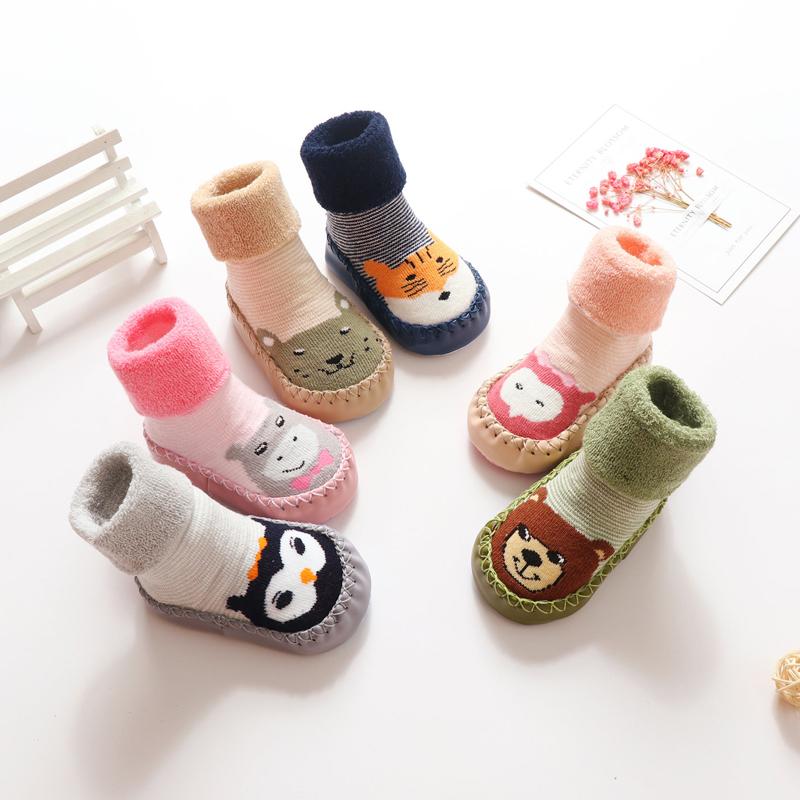寶寶地板襪嬰兒學步鞋襪純棉軟底秋冬襪子防滑冬季室內小孩兒童襪