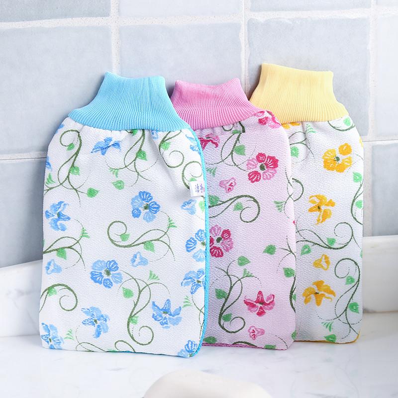 韩国时尚印花免搓洗澡巾搓澡手套加厚双面搓泥去角质搓澡巾搓背巾