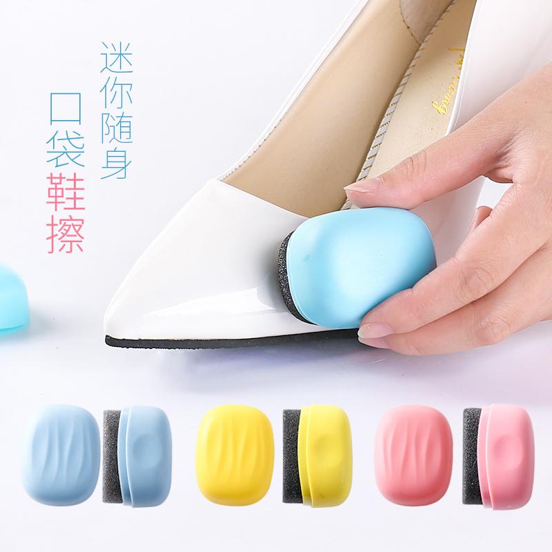 Мини портативный портативный обувной вытирать обувной вощеная бумага обувной обслуживание чистый медсестра бесцветный крем для обуви губка обеззараживание вытирать обувной воск