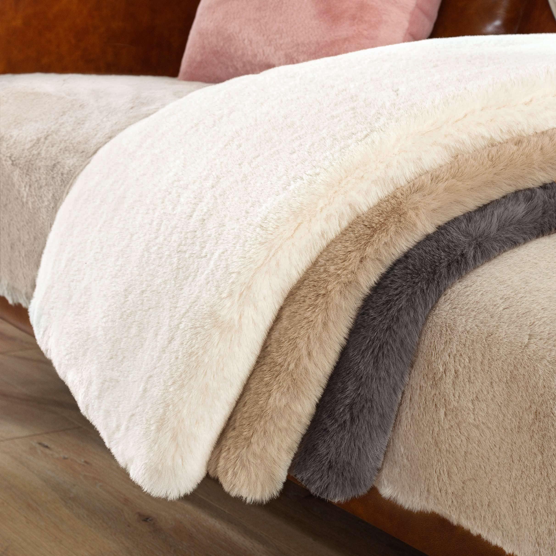 北欧简约冬季毛绒皮草高档罩沙发垫怎么样