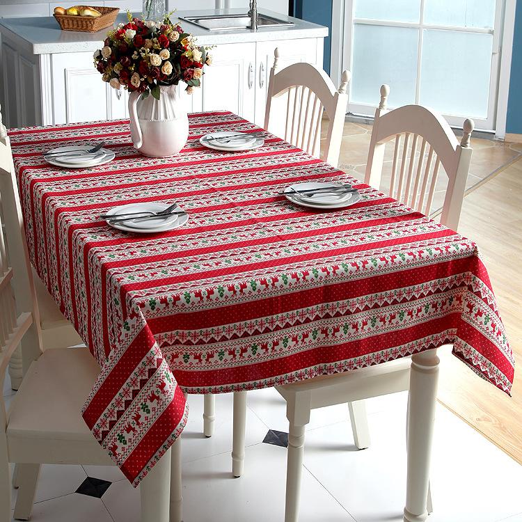 年终特价欧式经典圣诞桌布个性创意茶几餐桌桌布盖巾民族风定制