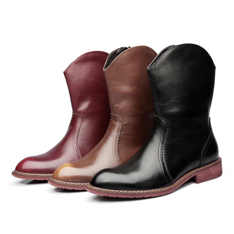 モンゴルの靴の靴の男性の復古の本革の韓国版のファッションのショートブーツの英倫の先端の男性の靴の紳士のマーティンの靴の男性