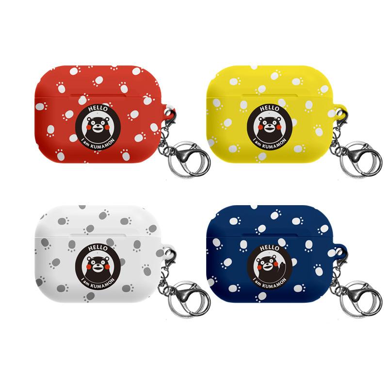 韩国正品熊本熊适用苹果airpods pro3代蓝牙耳机包挂钩保护套硬壳