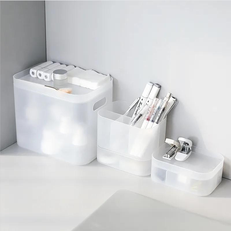 muji収納ボックス大規模スクラブプラスチック透明化粧品化粧品浴室カバー収納ケース