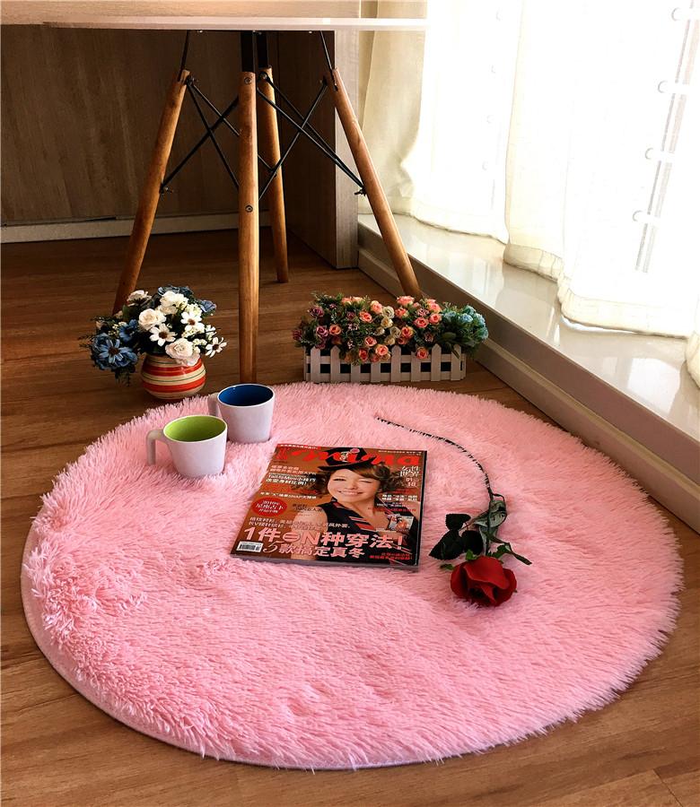 圓形地毯瑜伽毯弔籃藤椅墊電腦椅轉椅墊茶几床邊地毯防滑墊定製