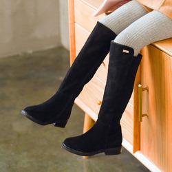 女童春秋真皮长靴2020新款韩版中大童高筒靴公主鞋儿童黑色单靴子