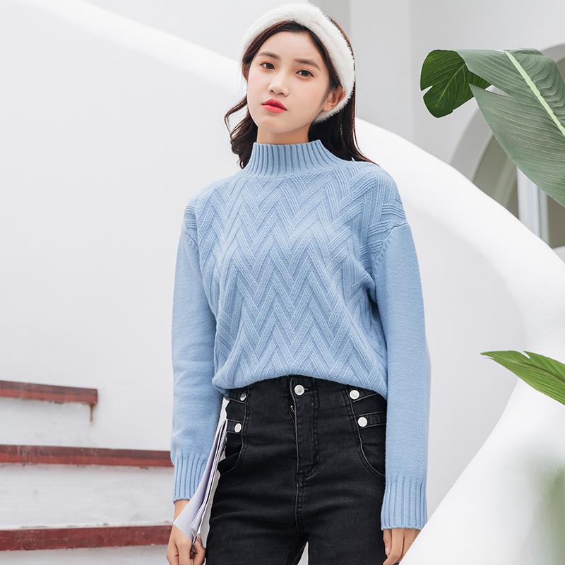 实拍韩国chic内搭外穿基础半高领套头加厚毛衣人手一件闭眼入5色