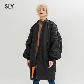 SLY春夏新品时尚字母印花立领灯笼袖休闲棉服038CSQ30-0090图片