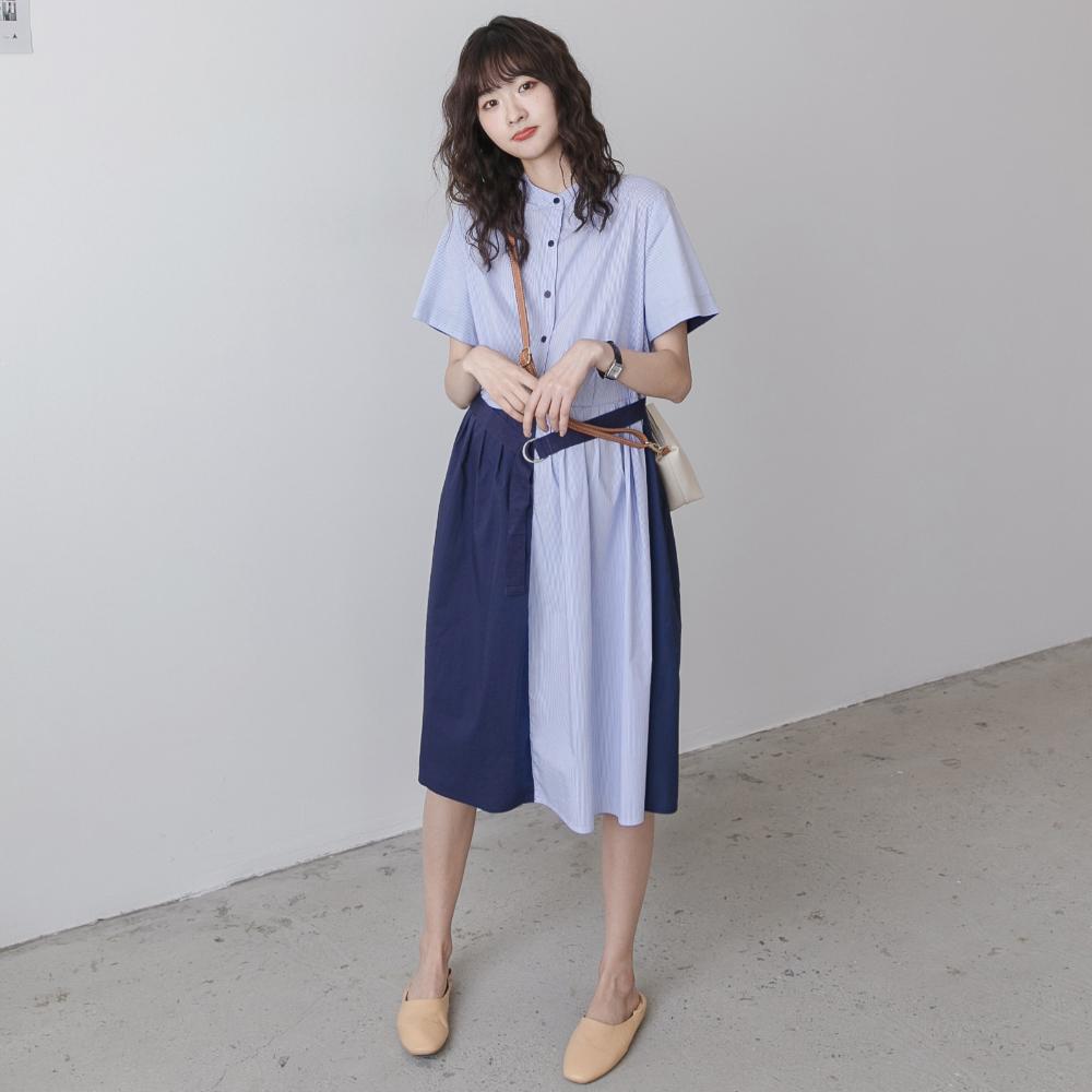 孕妇连衣裙夏装韩国时尚宽松个性辣妈洋气可哺乳长款过膝衬衫裙图片