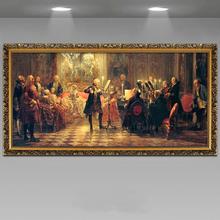 新古典装饰名画欧洲人物画欧美式客厅壁画酒店KTV过道油画音乐会