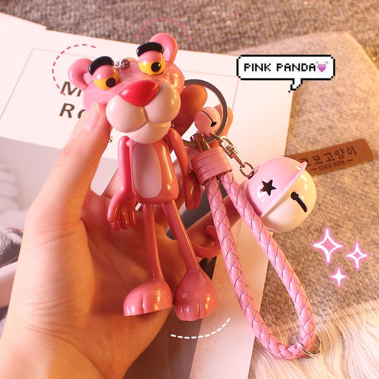 Корея мягкий сестра брелок INS творческий розовая пантера мешки брелок день рождения подарок милый подвески колокол кулон