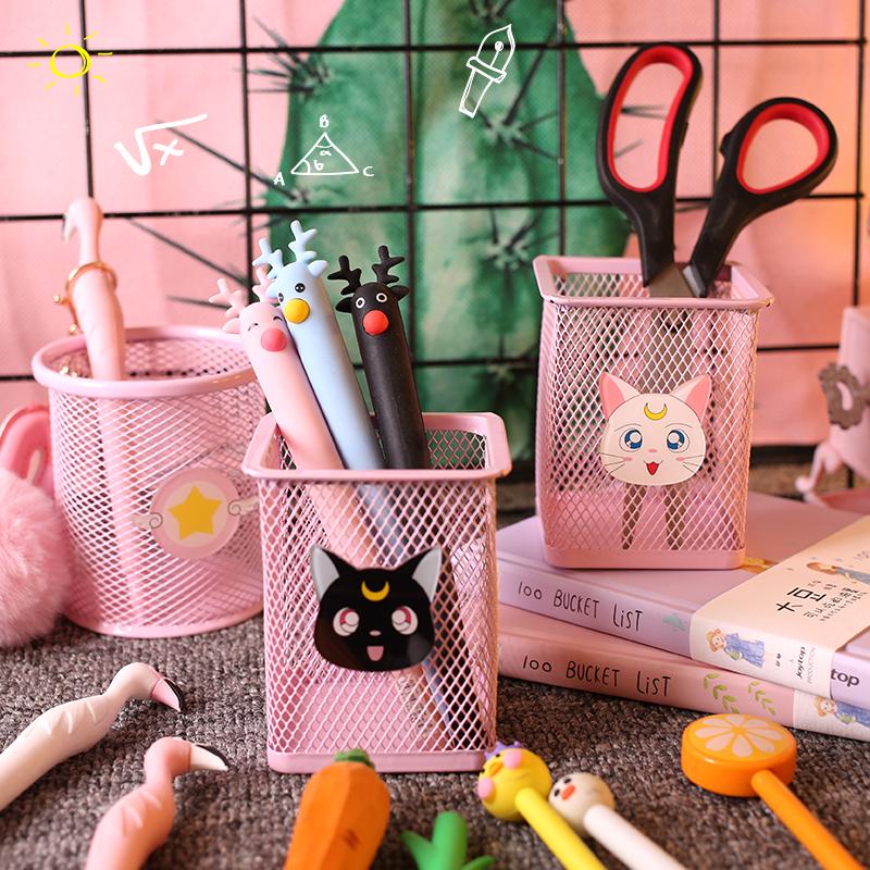 Девушка сердце розовый милый пенал корея студент небольшой свежий офис канцтовары феи эксклюзивный пенал хранение трубка