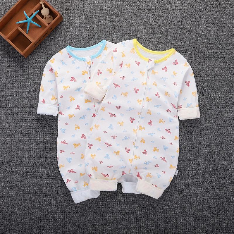 婴儿睡袋四季通用夏季薄款纯棉男女宝宝空调分腿防踢被长袖防惊跳