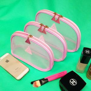 韩国3ce化妆包收纳包大中小号便携随身携带眉笔口红手拿包新款