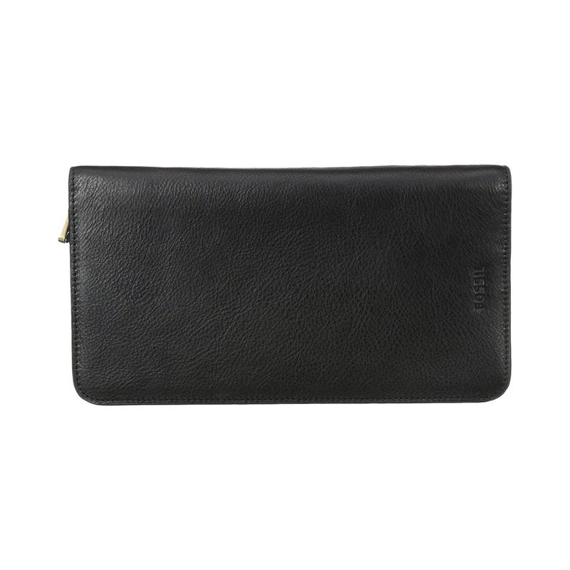 Overseas purchase of fossil multi zip easy to carry and store multi-functional fashion wallet for men