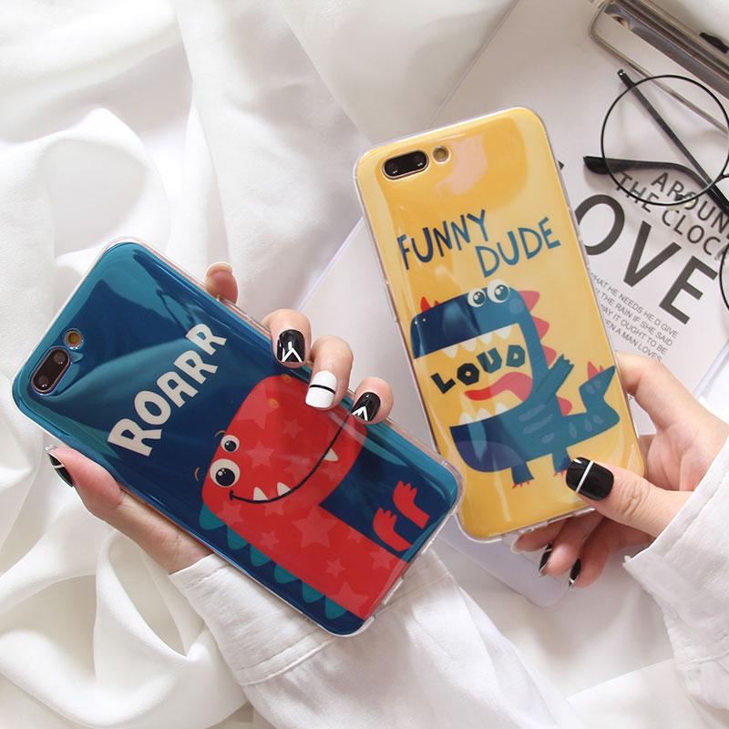 卡通情侣小恐龙VIVOZ5X手机壳z3全包z3i蓝光女男女Y3硅胶S1保护套(非品牌)