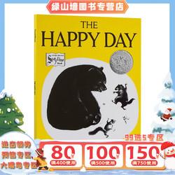 英文原版绘本 The Happy Day 快乐的一天 凯迪克银奖黑白绘本里的春天 大开本平装 4-8岁 露丝.克劳斯Ruth Krauss