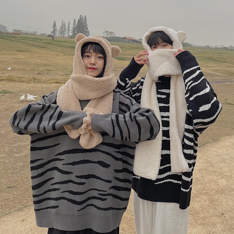 女装类目条纹斑马圆领毛衣C310-W71P68,针织衫/毛衣,电商C310