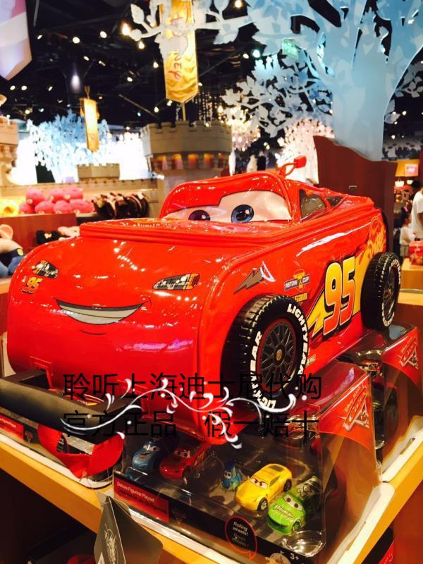上海迪士尼代买闪电麦昆万向轮儿童拉杆箱卡通行李箱旅行箱登机箱