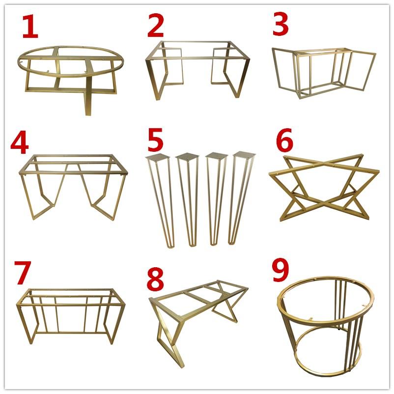 鐵藝餐桌腳鐵架子定制桌腿支架大板桌支撐腳鋼架腿烤漆辦公書桌架